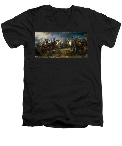 The Battle Of Austerlitz Men's V-Neck T-Shirt