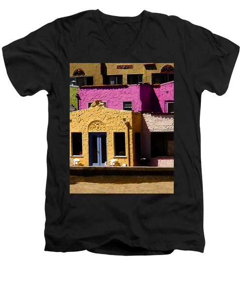 Men's V-Neck T-Shirt featuring the photograph The Beach House by Jim Thompson