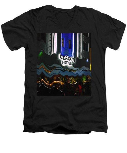 The Beacon Hotel Men's V-Neck T-Shirt