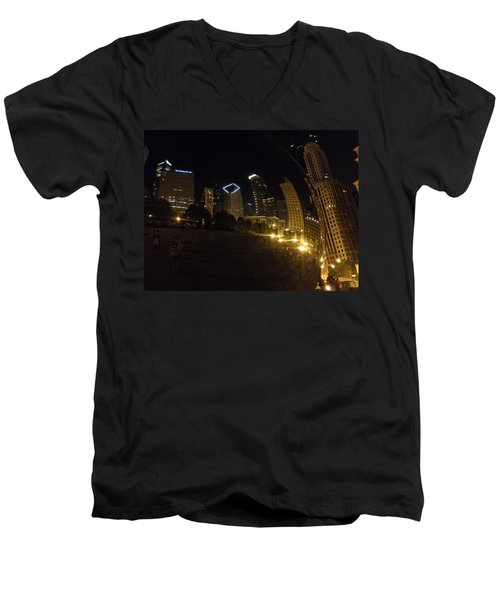Men's V-Neck T-Shirt featuring the photograph The Bean by Tiffany Erdman