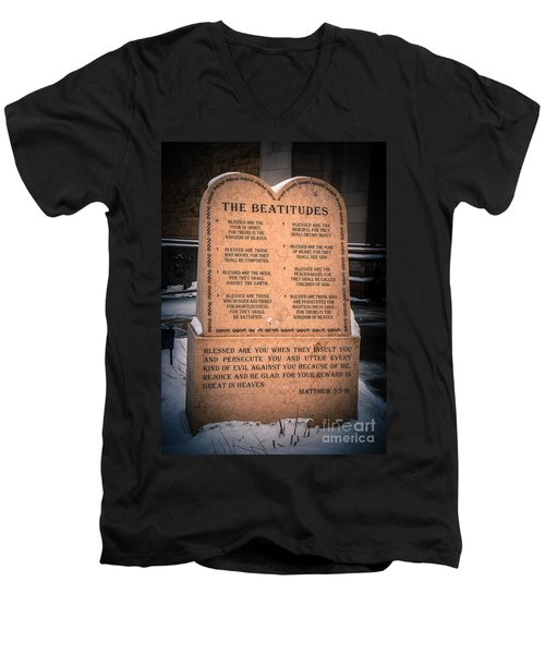 The Beatitudes Men's V-Neck T-Shirt