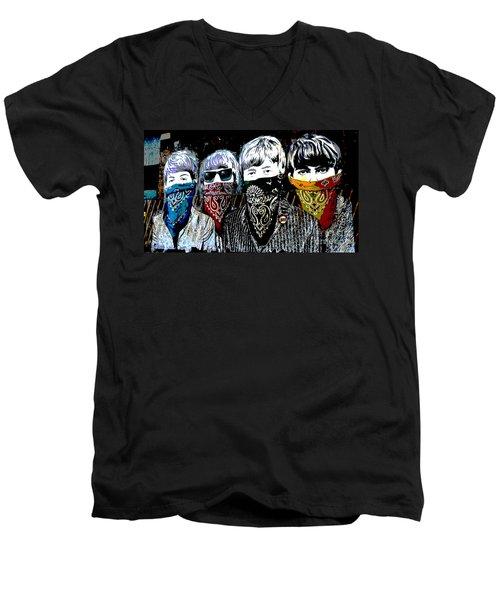 The Beatles Men's V-Neck T-Shirt