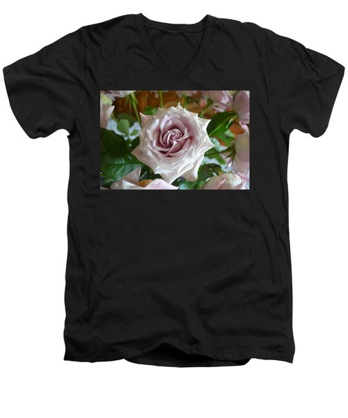 The Beauty Of A Flower Men's V-Neck T-Shirt by Jim Fitzpatrick