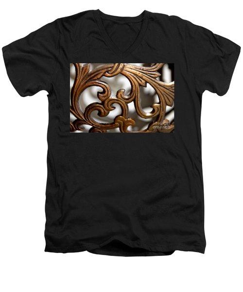 The Beauty Of Brass Scrolls 1 Men's V-Neck T-Shirt