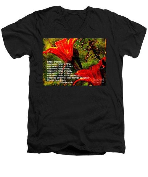 The Bible Philippians 4 Men's V-Neck T-Shirt