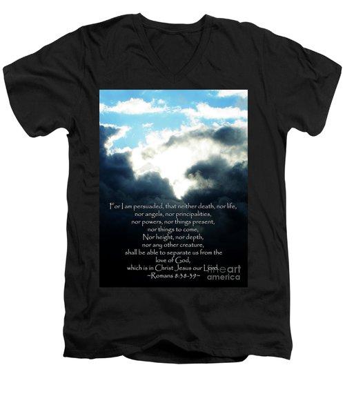 The Bible Romans 8 Men's V-Neck T-Shirt