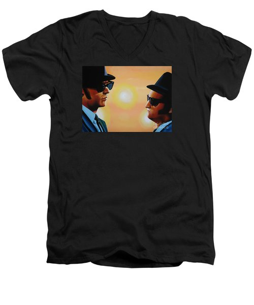 The Blues Brothers Men's V-Neck T-Shirt by Paul Meijering