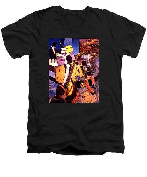 The Blues People Men's V-Neck T-Shirt