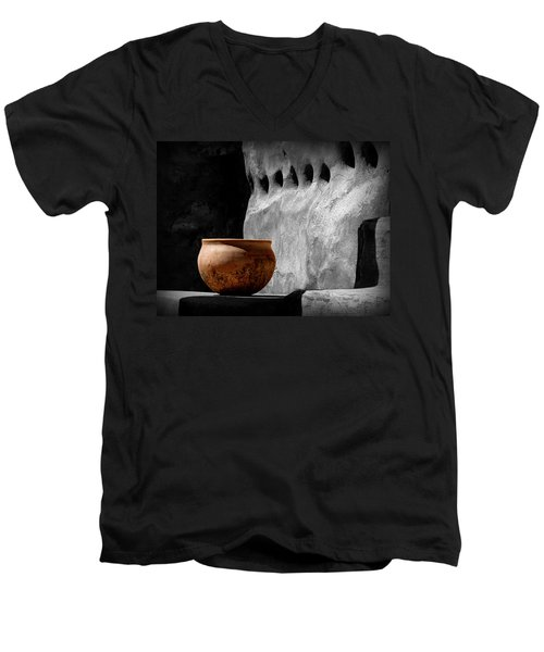 The Bowl Men's V-Neck T-Shirt by Lucinda Walter