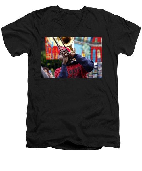 The Breath Of Jazz Men's V-Neck T-Shirt
