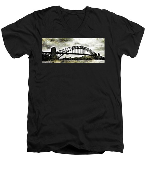 The Bridge Spattled Men's V-Neck T-Shirt