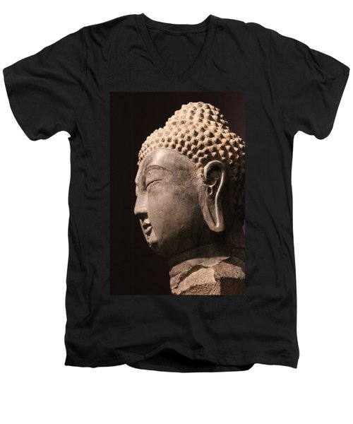 Men's V-Neck T-Shirt featuring the photograph The Buddha 2 by Lynn Sprowl