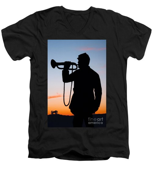The Bugler Men's V-Neck T-Shirt