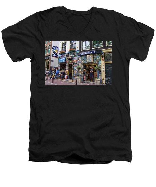 The Bulldog Coffee Shop - Amsterdam Men's V-Neck T-Shirt