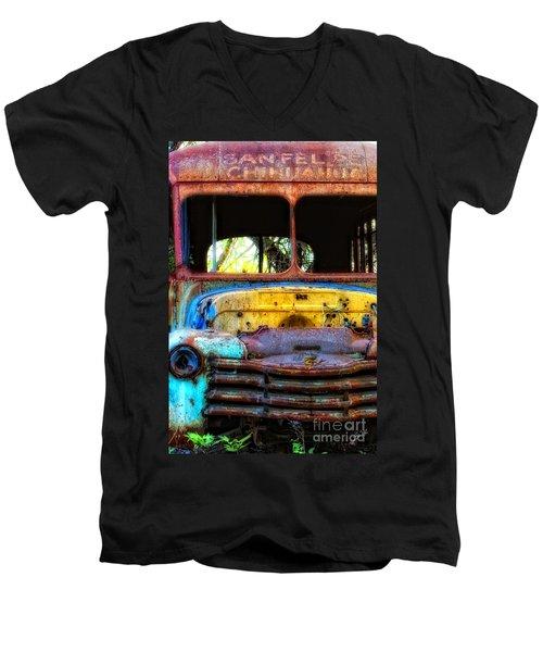 The Bus Stops Here Men's V-Neck T-Shirt