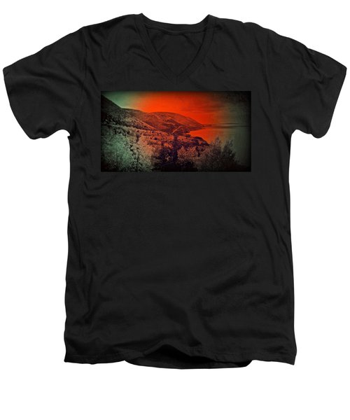 The Cabot Trail Men's V-Neck T-Shirt by Jason Lees