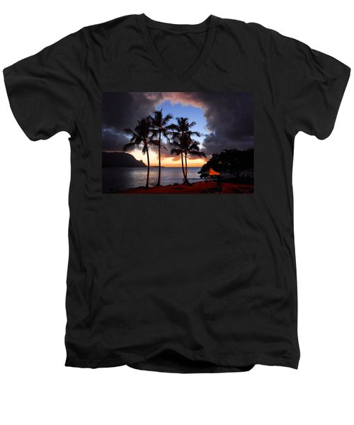 Men's V-Neck T-Shirt featuring the photograph The Center Of The Storm by Lynn Bauer
