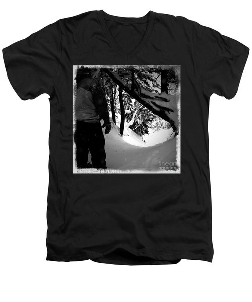 Men's V-Neck T-Shirt featuring the photograph The Chute by James Aiken
