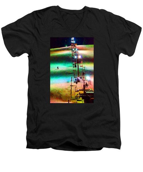 The Color  Of Fun  Men's V-Neck T-Shirt by Susan  McMenamin