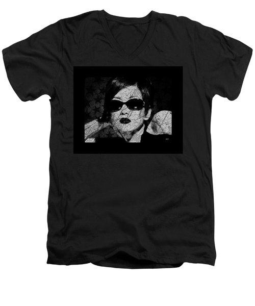 The Cracked Facade Men's V-Neck T-Shirt by Absinthe Art By Michelle LeAnn Scott
