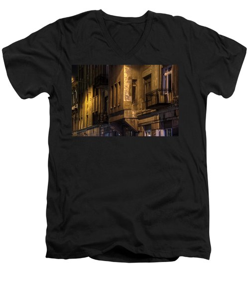 The Dark Side Men's V-Neck T-Shirt by Nathan Wright