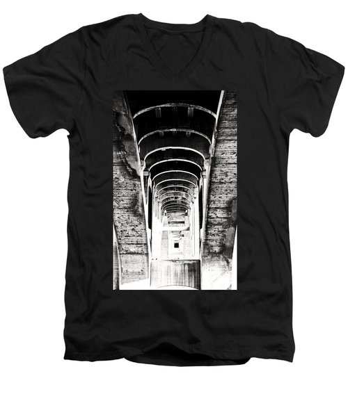 The Darkness Retreats Men's V-Neck T-Shirt
