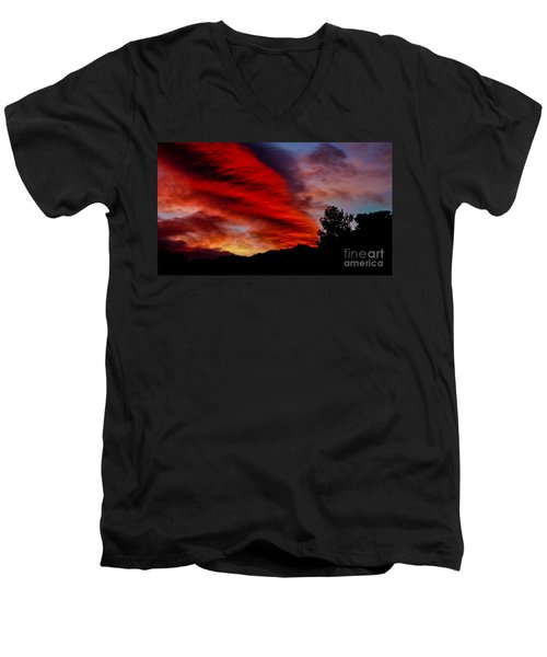 The Day Is Done Men's V-Neck T-Shirt by Angela J Wright