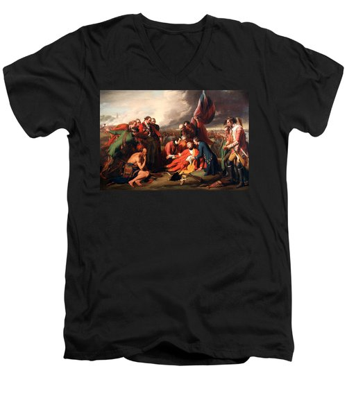 The Death Of General Wolfe Men's V-Neck T-Shirt