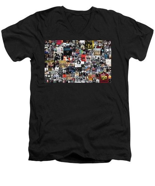 The Doors Collage Men's V-Neck T-Shirt