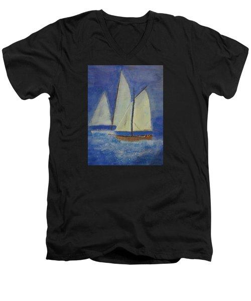 The Doreen Men's V-Neck T-Shirt by Elvira Ingram