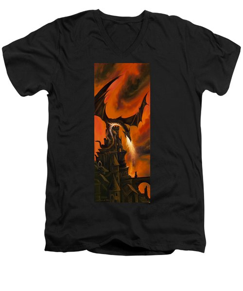 The Dragon's Tower Men's V-Neck T-Shirt