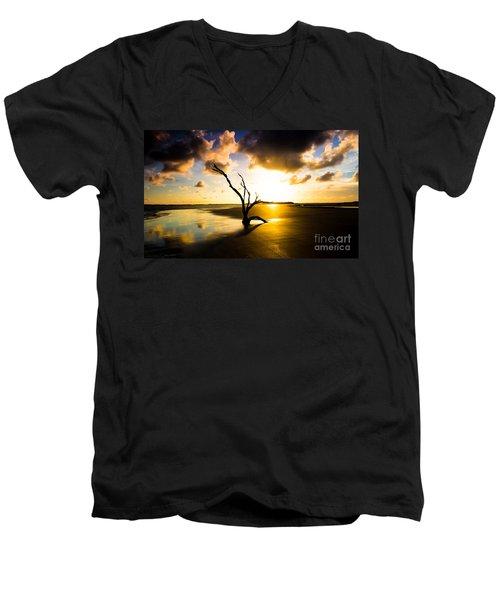 The Driftwood Tree Folly Beach Men's V-Neck T-Shirt