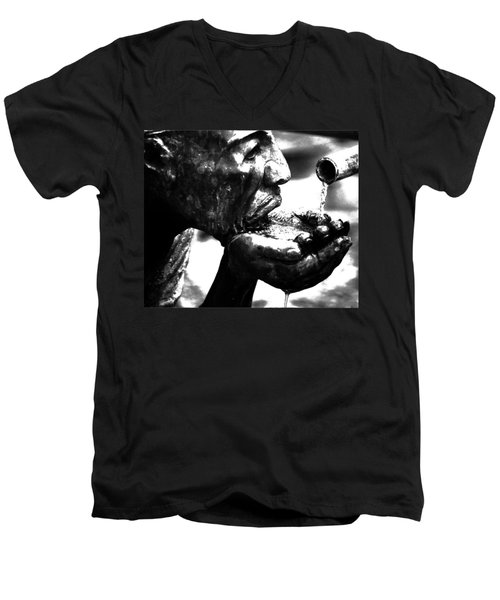 The Drink Men's V-Neck T-Shirt by Leticia Latocki