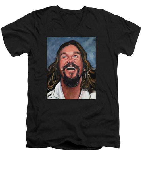 The Dude Men's V-Neck T-Shirt by Tom Carlton