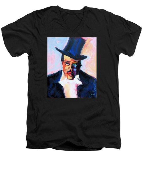 The Duke Men's V-Neck T-Shirt by Les Leffingwell