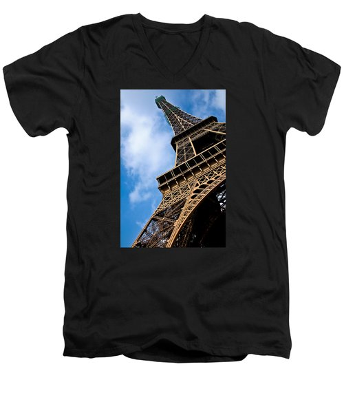 The Eiffel Tower From Below Men's V-Neck T-Shirt