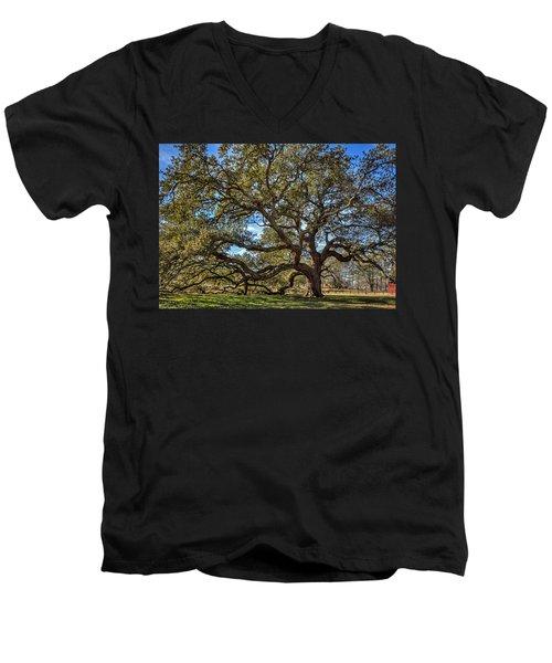 The Emancipation Oak Tree At Hu Men's V-Neck T-Shirt