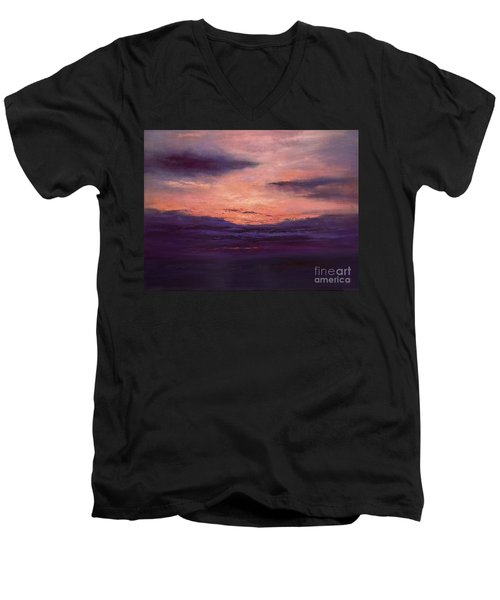 The End Of A Perfect Day Men's V-Neck T-Shirt by Valerie Travers