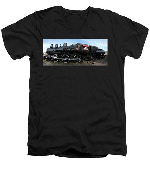 The Engine Men's V-Neck T-Shirt by Richard J Cassato