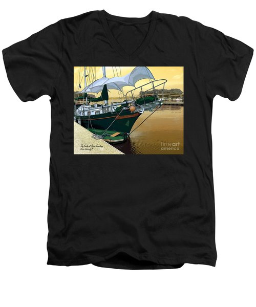 The Enola At Paris Landing Men's V-Neck T-Shirt