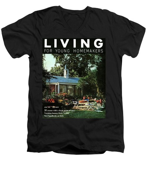 The Exterior Of A House And Patio Furniture Men's V-Neck T-Shirt
