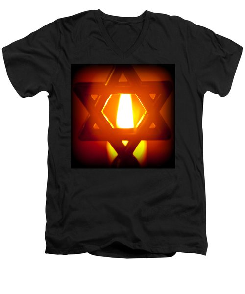 The Fire Within Men's V-Neck T-Shirt by Tikvah's Hope