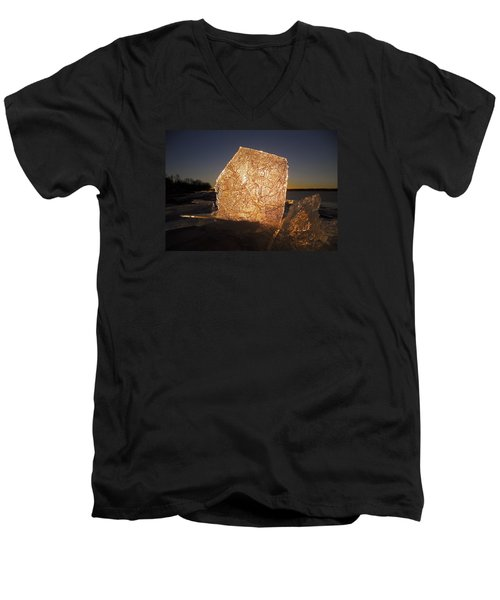 Men's V-Neck T-Shirt featuring the photograph The First Ice ... by Juergen Weiss