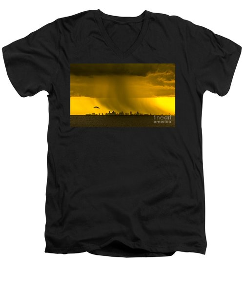 The Floating City  Men's V-Neck T-Shirt by Marvin Spates