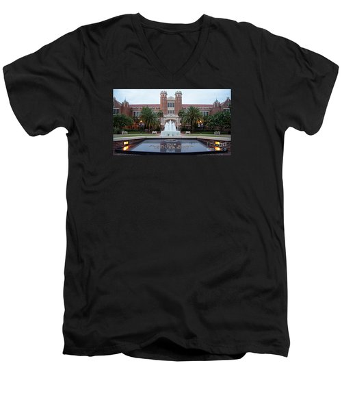 The Florida State University Men's V-Neck T-Shirt by Paul  Wilford
