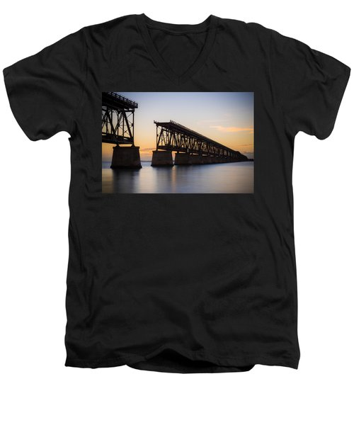 Men's V-Neck T-Shirt featuring the photograph The Folly by Kristopher Schoenleber