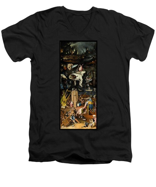 The Garden Of Earthly Delights. Right Panel Men's V-Neck T-Shirt by Hieronymus Bosch