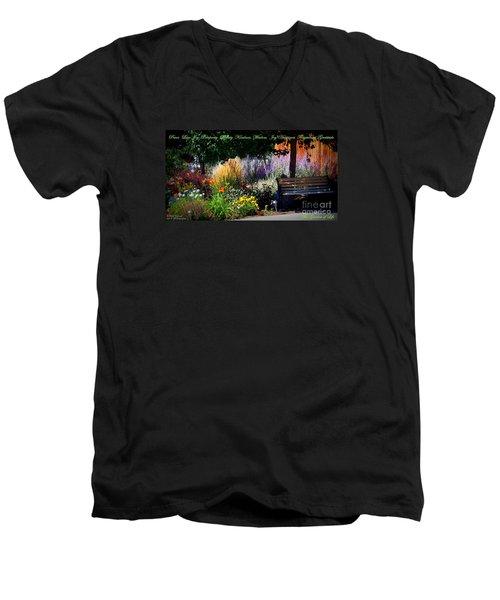 The Garden Of Life Men's V-Neck T-Shirt by Bobbee Rickard