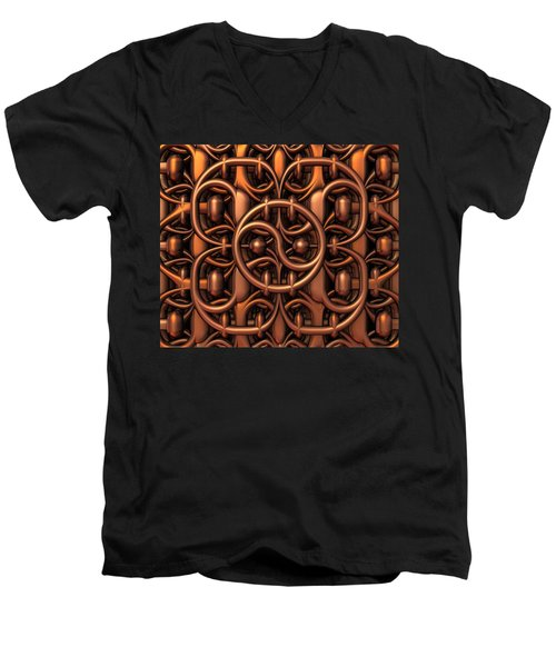 Men's V-Neck T-Shirt featuring the digital art The Gate by Lyle Hatch
