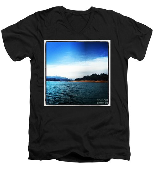 Men's V-Neck T-Shirt featuring the photograph The Getaway by Luther Fine Art